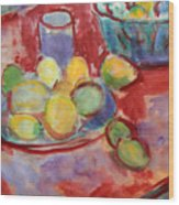 Still Life With A Red Cloth Wood Print