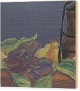 Still Life With Artichockes Wood Print