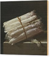 Still Life With Asparagus Wood Print