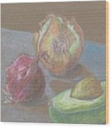 Still Life With Avacado Wood Print