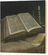 Still Life With Bible Nuenen, October 1885 Vincent Van Gogh 1853  1890 Wood Print