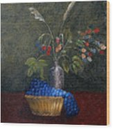 Still Life With Blue Fruit Wood Print