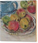 Still Life With Blue Teapot 2 Wood Print