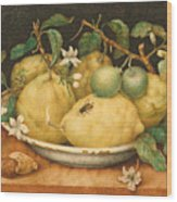 Still Life With Bowl Of Citrons Wood Print