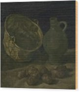Still Life With Brass Cauldron And Jug Nuenen, September 1885 Vincent Van Gogh 1853  1890 Wood Print