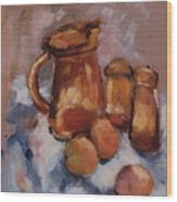 Still Life With Brown Pitcher Wood Print