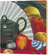 Still Life With Citrus Still Life Wood Print