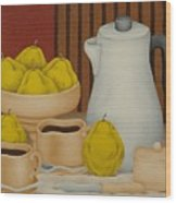 Still Life With Coffee Pot  2005 Wood Print