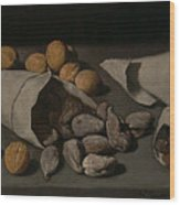 Still Life With Dried Fruit Wood Print