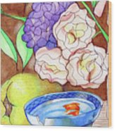 Still Life With Fish Wood Print by Loretta Nash