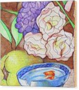 Still Life With Fish Wood Print by Loretta Nash