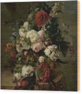 Still Life With Flowers, 1789 Wood Print