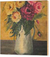 Still Life With Flowers Wood Print