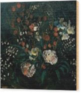 Still Life With Flowers Boris Grigoriev Wood Print