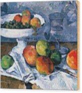 Still Life With Fruit Dish Wood Print