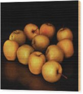 Still Life With Golden Apples Wood Print