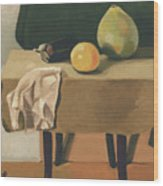 Still-life With Grapefruit Wood Print