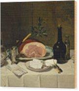 Still Life With Ham Wood Print