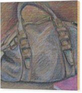 Still Life With Handbag And Notepad Wood Print