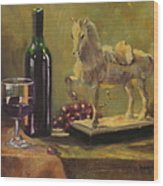 Still Life With Horse Wood Print