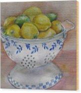 Still Life With Lemons Wood Print