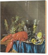 Still Life With Lobster 1655 Wood Print