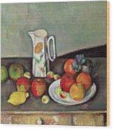 Still Life With Milkjug And Fruit Wood Print
