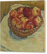 Still Life With Moravian Apples Wood Print