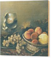 Still-life With Peaches Wood Print by Tigran Ghulyan