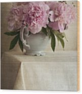 Still Life With Pink Peonies Wood Print