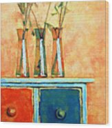 Still Life With Poppies Wood Print