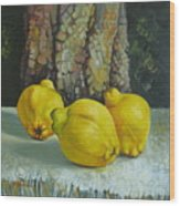 Still Life With Quinces Wood Print