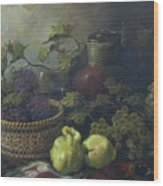 Still-life With Quinces Wood Print by Tigran Ghulyan