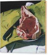 Still Life With Steak Wood Print