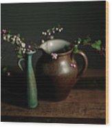 Still Life With Stoneware  Wood Print