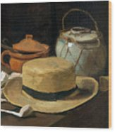 Still Life With Straw Hat, By Vincent Van Gogh, 1881, Kroller-mu Wood Print