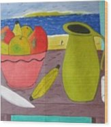 Still Life With Sunsed Wood Print