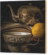 Still Life With Tea Cup Wood Print