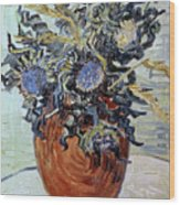 Still Life With Thistles Wood Print
