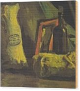 Still Life With Two Bags And Bottle Wood Print