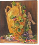 Still Life With Urn Wood Print