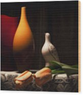 Still Life With Vases And Tulips Wood Print