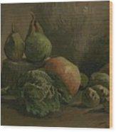 Still Life With Vegetables And Fruit Nuenen, Autumn 1884 Vincent Van Gogh 1853  1890 Wood Print