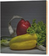 Still-life With Vegetables  Wood Print