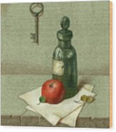 Still Life With Vial Wood Print