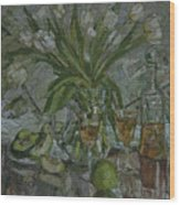 Still Life With White Tulips Wood Print
