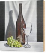 Still Life With White Wine Wood Print