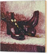 Still Life With Winter Shoes - 1 Wood Print