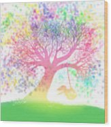 Still More Rainbow Tree Dreams 2 Wood Print
