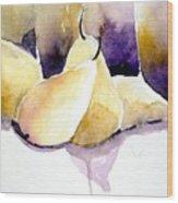 Still Of Pears Wood Print
